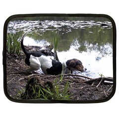 Treeing Walker Coonhound In Water Netbook Case (Large)