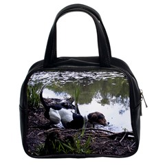 Treeing Walker Coonhound In Water Classic Handbags (2 Sides)