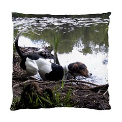 Treeing Walker Coonhound In Water Standard Cushion Case (Two Sides)