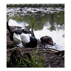 Treeing Walker Coonhound In Water Shower Curtain 66  x 72  (Large)
