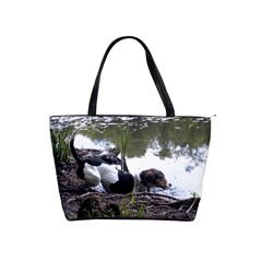 Treeing Walker Coonhound In Water Shoulder Handbags