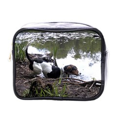 Treeing Walker Coonhound In Water Mini Toiletries Bags