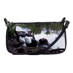 Treeing Walker Coonhound In Water Shoulder Clutch Bags