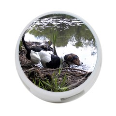 Treeing Walker Coonhound In Water 4-Port USB Hub (Two Sides)
