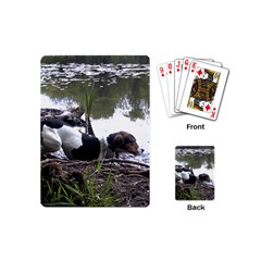 Treeing Walker Coonhound In Water Playing Cards (Mini)