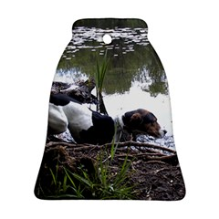 Treeing Walker Coonhound In Water Ornament (Bell)