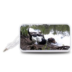 Treeing Walker Coonhound In Water Portable Speaker (White)
