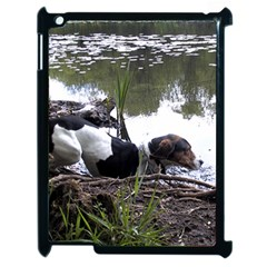 Treeing Walker Coonhound In Water Apple iPad 2 Case (Black)
