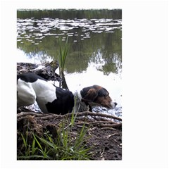 Treeing Walker Coonhound In Water Small Garden Flag (Two Sides)