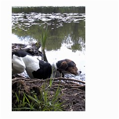 Treeing Walker Coonhound In Water Large Garden Flag (Two Sides)