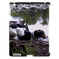 Treeing Walker Coonhound In Water Apple iPad 3/4 Hardshell Case (Compatible with Smart Cover)