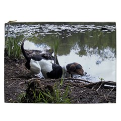 Treeing Walker Coonhound In Water Cosmetic Bag (XXL)