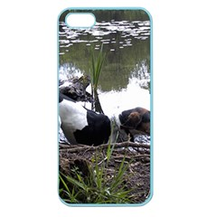 Treeing Walker Coonhound In Water Apple Seamless iPhone 5 Case (Color)