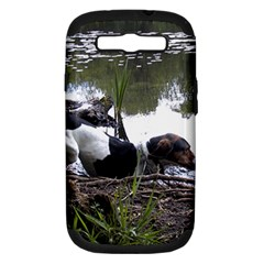 Treeing Walker Coonhound In Water Samsung Galaxy S III Hardshell Case (PC+Silicone)