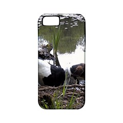 Treeing Walker Coonhound In Water Apple iPhone 5 Classic Hardshell Case (PC+Silicone)