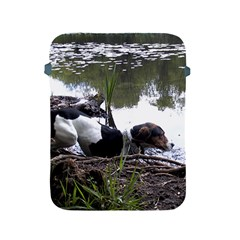 Treeing Walker Coonhound In Water Apple iPad 2/3/4 Protective Soft Cases