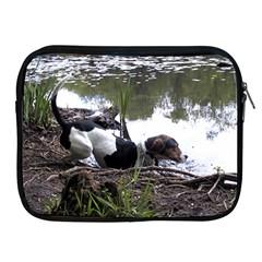 Treeing Walker Coonhound In Water Apple iPad 2/3/4 Zipper Cases
