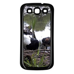 Treeing Walker Coonhound In Water Samsung Galaxy S3 Back Case (Black)