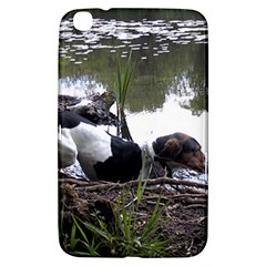 Treeing Walker Coonhound In Water Samsung Galaxy Tab 3 (8 ) T3100 Hardshell Case