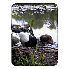 Treeing Walker Coonhound In Water Samsung Galaxy Tab 3 (10.1 ) P5200 Hardshell Case