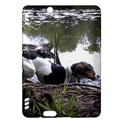 Treeing Walker Coonhound In Water Kindle Fire HDX Hardshell Case