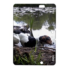 Treeing Walker Coonhound In Water Kindle Fire HDX 8.9  Hardshell Case