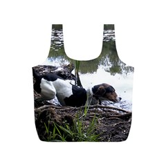 Treeing Walker Coonhound In Water Full Print Recycle Bags (S)