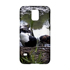 Treeing Walker Coonhound In Water Samsung Galaxy S5 Hardshell Case