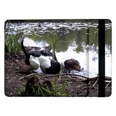 Treeing Walker Coonhound In Water Samsung Galaxy Tab Pro 12.2  Flip Case