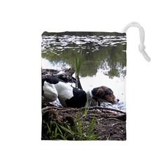 Treeing Walker Coonhound In Water Drawstring Pouches (Medium)