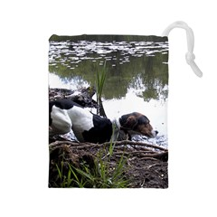 Treeing Walker Coonhound In Water Drawstring Pouches (Large)