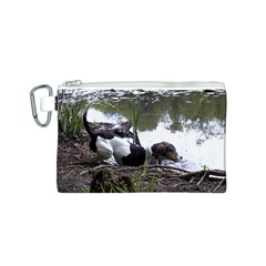 Treeing Walker Coonhound In Water Canvas Cosmetic Bag (S)