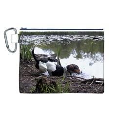 Treeing Walker Coonhound In Water Canvas Cosmetic Bag (L)
