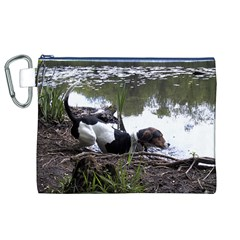 Treeing Walker Coonhound In Water Canvas Cosmetic Bag (XL)