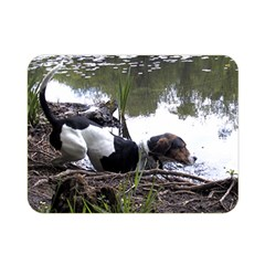 Treeing Walker Coonhound In Water Double Sided Flano Blanket (Mini)