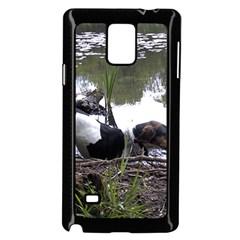 Treeing Walker Coonhound In Water Samsung Galaxy Note 4 Case (Black)