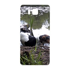 Treeing Walker Coonhound In Water Samsung Galaxy Alpha Hardshell Back Case