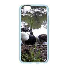 Treeing Walker Coonhound In Water Apple Seamless iPhone 6/6S Case (Color)