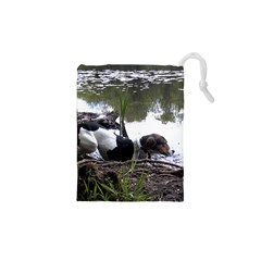 Treeing Walker Coonhound In Water Drawstring Pouches (XS)