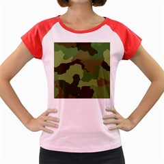 A Completely Seamless Tile Able Background Design Pattern Women s Cap Sleeve T Shirt