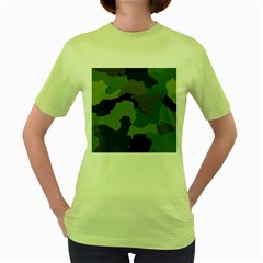 A Completely Seamless Tile Able Background Design Pattern Women s Green T Shirt