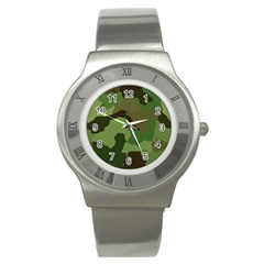 A Completely Seamless Tile Able Background Design Pattern Stainless Steel Watch