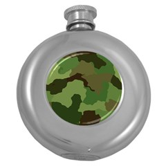 A Completely Seamless Tile Able Background Design Pattern Round Hip Flask (5 oz)
