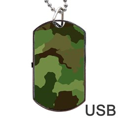 A Completely Seamless Tile Able Background Design Pattern Dog Tag USB Flash (Two Sides)