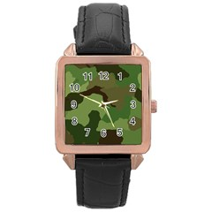 A Completely Seamless Tile Able Background Design Pattern Rose Gold Leather Watch