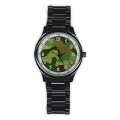A Completely Seamless Tile Able Background Design Pattern Stainless Steel Round Watch