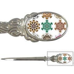 A Set Of 9 Nine Snowflakes On White Letter Openers