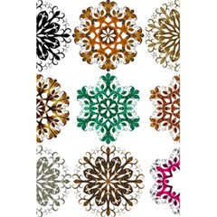 A Set Of 9 Nine Snowflakes On White 5 5  X 8 5  Notebooks