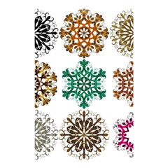A Set Of 9 Nine Snowflakes On White Shower Curtain 48  X 72  (small)