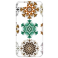 A Set Of 9 Nine Snowflakes On White Apple Iphone 5 Classic Hardshell Case